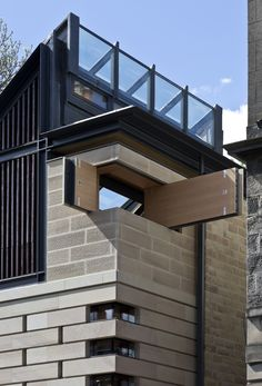 Secret hatches, moving walls and a sliding ladder all feature inside the Edinburgh home of architect Richard Murphy, which has been named RIBA House of the Year Commercial Architecture, Residential Architecture, Kinetic Architecture, Architecture Details, Interior Architecture, Mobile Architecture, Brick Interior, Interior Design, Transformers
