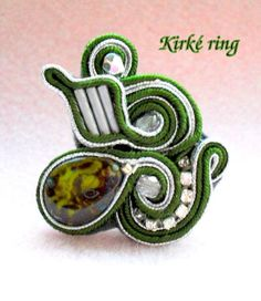 SOUTACHE ring KIT Soutache Embroidery Soutache ring Handmade soutache ring Designer soutache ring Kit with beads, crystals