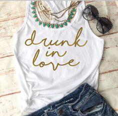 Bachelorette Party Shirts - Bachelorette Party Favors - Bachelorette Shirts - Drunk In Love Shirts - Bachelorette Party https://www.etsy.com/listing/505914877/bachelorette-party-shirts-bachelorette