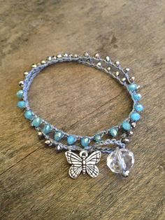 Butterfly Multi Wrap Crochet Bracelet. $22.00, via Etsy.