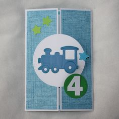 A Gate card for a boy who loves trains