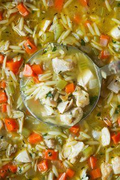 Lemon Chicken Orzo Soup - Damn Delicious Orzo Recipes, Cooking Recipes, Healthy Recipes, Cooking 101, Entree Recipes, Sandwich Recipes, Healthy Dinners, Chicken Recipes, Healthy Food