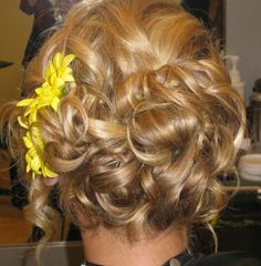 Updo done at Elle Salon and Spa