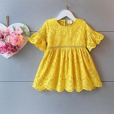 Find More Dresses Information about New Arrival Cute Kids Lace Dress Embroider Bell Sleeve Fashion Dress Yellow Summer Party Dress Wholesale,High Quality dress longer,China dresses spring Suppliers, Cheap dress modern from Everweekend Kids Clothing Co.,Ltd on Aliexpress.com