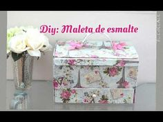 Maleta de Esmalte feita com Caixa de Sapato 5 Minute Crafts Videos, Craft Videos, Selling Jewelry, Jewelry Shop, Arts And Crafts, Diy Crafts, Cardboard Paper, Altered Boxes, Pretty Box