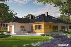 Liv 3 G1 - projekt domu - Archipelag House Design Pictures, Bungalow House Design, Design Case, Home Fashion, Planer, My House, Home Goods, House Plans, Garage Doors