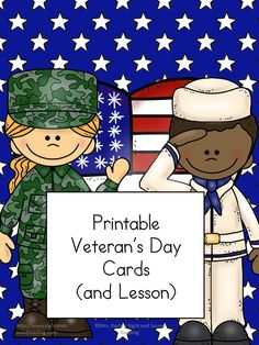 Free Printable Veteran's Day Cards to help you teach children about the importance of Veterans and to thank a Veteran too.  Great activity for preschool, kindergarten or 1st grade!