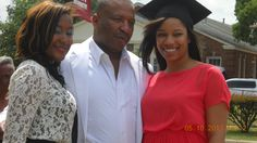 Kymberlin, her Dad and Sister. Grad Day in Denton, Tx.