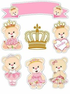 - Oh My Baby! Baby Shawer, 3rd Baby, Printable Stickers, Free Printables, Imprimibles Baby Shower, Little King, Bear Theme, Baby Mermaid, 14th Birthday