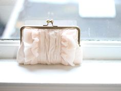 Bridal Clutch Purse / Vintage Inspired Bridal by DavieandChiyo, $90.00