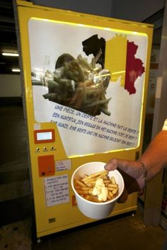 French Fry Vending Machine Dispenses Hot Fries in 90 Seconds..crazy...