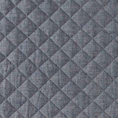 Quilted light denim w harlequin pattern