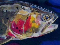 Cutthroat Trout fishing Art