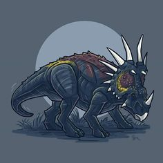 For Day 08 we look to the future yet again! Today we have the Styracosaurus from Dino Rivals toyline! Prehistoric Age, Prehistoric Creatures, Mythological Creatures, All Dinosaurs, Jurassic World Dinosaurs, Jurassic Park Series, Jurassic Park World, Dino Drawing, Godzilla