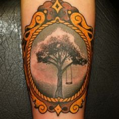 57 Ideas For Tattoo Tree Swing Branches Classy Tattoos, Feminine Tattoos, Trendy Tattoos, Tattoos For Guys, Tattoos For Women, Dog Tattoos, Finger Tattoos, Sleeve Tattoos, Swing Tattoo