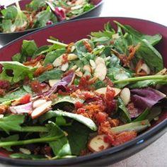 Baby Greens with a Warm Gorgonzola Dressing - Allrecipes.com