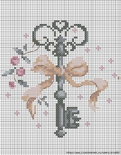 Cross-stitch.. The key to my heart :-) .. no color chart, just use pattern chart colors as your guide.. or choose your own colors.