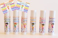 Gymnastics Party Favors  Customized Lip Balm  by NanasPartyPalace, $12.00