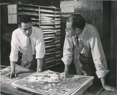 The Census Bureau's cartographers compared aerial photographs to 1950 Census maps to improve accuracy. Learn more at http://www.census.gov/history/