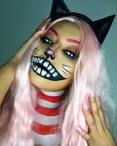 Cheshire Cat #halloweencostume #halloweenmakeup #catmakeup #aliceinwonderland #makeuptutorial #makeup #makeupartist #cheshirecat #costume #cheshirecatmakeup @jocelyncamarena (IG) @adrianaamariee (IG)
