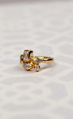 Melinda Maria - Colleen Cluster Ring Gold | Chloe Rose