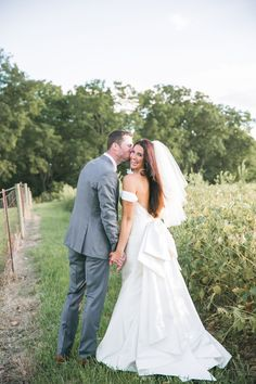 Real Wedding Inspiration: Hollie & Drew's Family Farm Wedding | Gown: Elaine by  Lea-Ann Belter | Image: SB Childs Photography