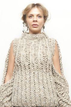 Designer Knitting MARY SWEATER   AMANDA HENDERSON KNITS For fat, Finnish & fabulous yarns click here: www.thickandfinn.com