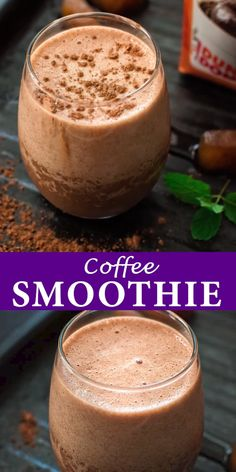 Rich, chocolaty and frothy, this Coffee Banana Smoothie makes a perfect breakfast or afternoon treat. This is one of the best smoothie recipes out there! Easy Smoothie Recipes, Easy Smoothies, Smoothie Drinks, Ninja Blender Recipes, Diet Drinks, Chocolate Smoothie Recipes, Chocolate Banana Smoothie, Chocolate Protein Shakes, Fruit Smoothies