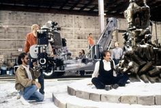Steven Spielberg on the set of Hook