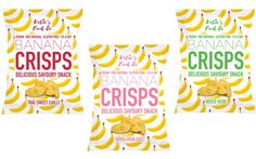 Katie's Food Co. debuts Banana Crisps range in UK - FoodBev Media Healthy Snack Options, Healthy Snacks, Savory Snacks, Snack Recipes, Food Packaging Design, Sweet Chilli, Confectionery, Crisp, Banana