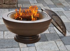 Our Scott Living fire pit is great for the summer time. It's perfect to relax by or you can gather some friends to make some s'mores :)