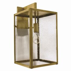 Brass Traditions 4000 Series 1 Light New York Wall Lantern 4521-1 Antique Glass, Antique Copper, Brass, Outdoor Wall Lantern, Outdoor Walls, Wall Sconce Lighting, Wall Sconces, Frosted Glass, Clear Glass
