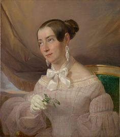Giuseppe Molteni (Affore 1800 – Milan 1867), Portrait of a Woman. Oil on canvas, 63 x 50 cm. Photo courtesy A. Pallesi Art Gallery