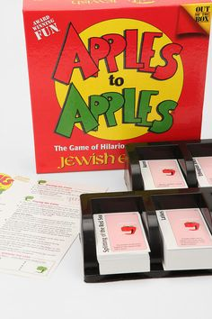 apples to apples...Jewish edition!