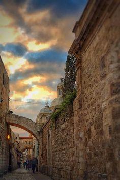 Via Dolorosa, Old City of Jerusalem, Israel...