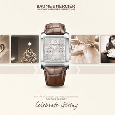 Got your gift-giving list ready? The perfect present for the holidays is only a few clicks away. Start choosing gifts with Baume & Mercier Celebrate Giving now.