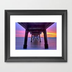 Deal Pier at Sunrise Framed Art Print by Alice Gosling - $37.00