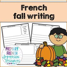 French fall / l'automne - writing French Classroom, Primary Classroom, Core French, French Immersion, Vocabulary Games, Grace, Language Development, Teaching Writing, Teaching Materials