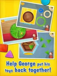 Curious About Shapes and Colors - 6 puzzles/mini-games introducing kids to shapes and colors. Original Appysmarts score: 89/100