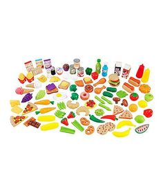 Look at this KidKraft Tasty Treats Play Food Set on today! Play Food Set, Pretend Food, Pretend Play, Chocolate Candy Brands, Kitchen Sets For Kids, Little Chef, Best Kids Toys, Baby Play, Imaginative Play