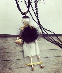 Купить 2016 новинка ожерелье корейских ювелирных мода девушка норки волосы длинные ожерелье белым покрывалом модель кукла свитер цепи ожерельеи другие товары категории Подвескив магазине Bulgatina Brand StoreнаAliExpress. куклы пальто и куклы животных