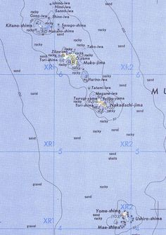 Karte der Mukojima-Inselkette ◆Ogasawara-guntō – Wikipedia http://de.wikipedia.org/wiki/Ogasawara-gunt%C5%8D #Ogasawara_Islands #Bonin_Islands