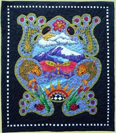"""""""Frog Totem"""" by Patty Hiebjbe200quilts.tumblr.com"""