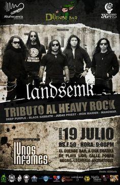 """Cresta Metálica Producciones » EL DUENDE BAR PRESENTA: """"LANDSEMK: TRIBUTO AL HEAVY ROCK & UNOS INFAMES"""" (PUERTO LA CRUZ) // 19-07-2013"""