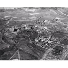Throwback Thursday: Aerial view of campus to the west. Site for UCI-California College of Medicine is visible at intersection of California Avenue and Bridge Road just to the left of Campus Hall (now Crawford Hall), March 1968.   Photo courtesy of the University Archives in the UCI Libraries. UC Irivne