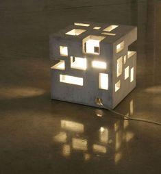 Concrete cube light