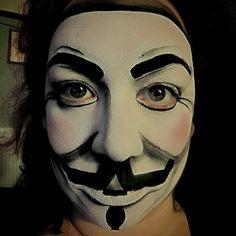Guy Fawkes mask by Enchanted Brush www.enchanted-brush.co.uk #facepainting #vforvendetta #5thnovember