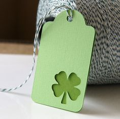 Saint Patricks Gift Tags  Shamrock Swing Tags in Lime by scrapbits, $3.00