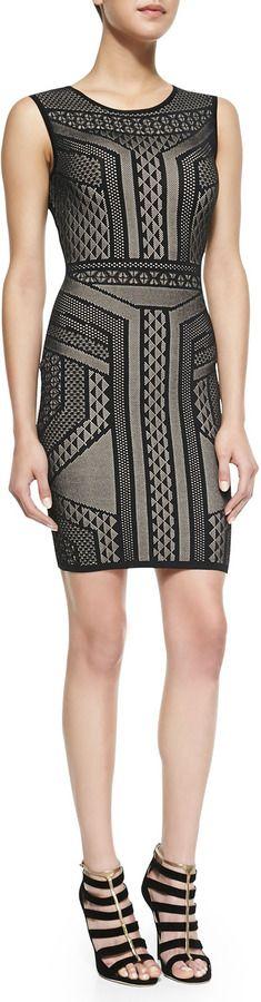 BCBGMAXAZRIA Stefanie BodyCon Sleeveless Dress