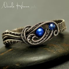 Blue Pearl Two Finger Knot Ring from Nicole Hanna Jewelry on Storenvy